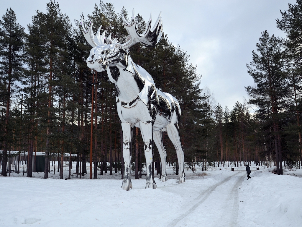 Der größte Elch der Welt bei Bjøråa