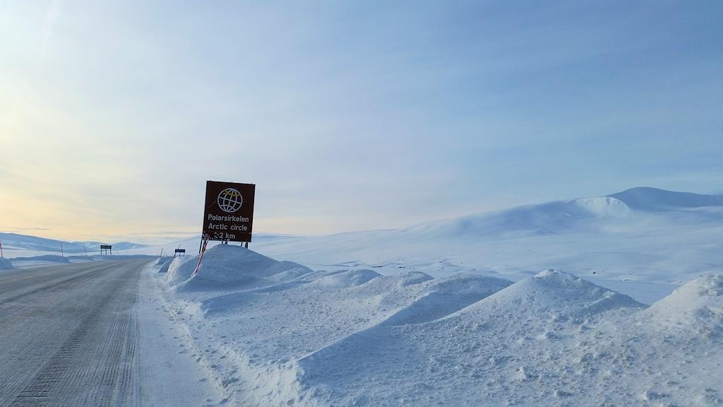 Auf dem Weg zum Polarkreis