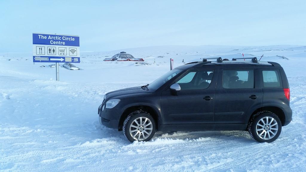 Roadtrip zum Polarkreis - Am Polarsirkelsenteret