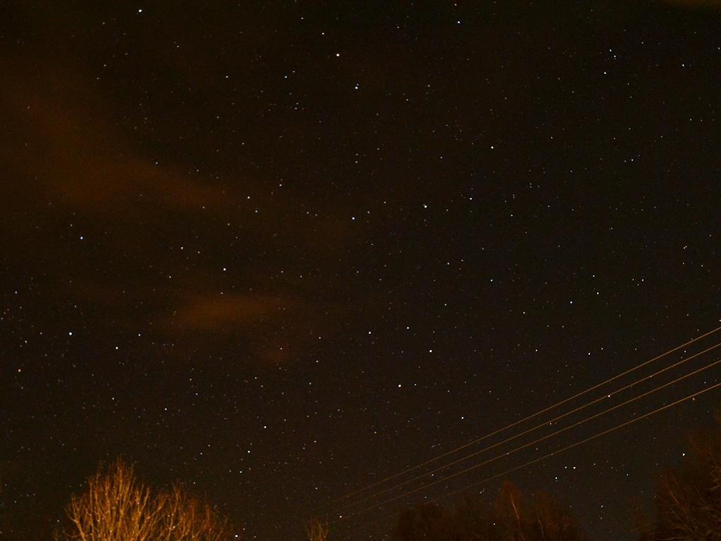Sternenklarer Himmel ohne Polarlicht ...