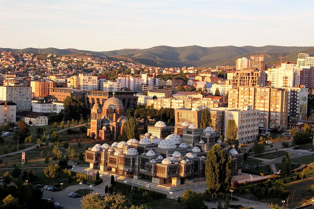 Pristina: Ausblick auf Kathedralkirche Christi des Erlösers