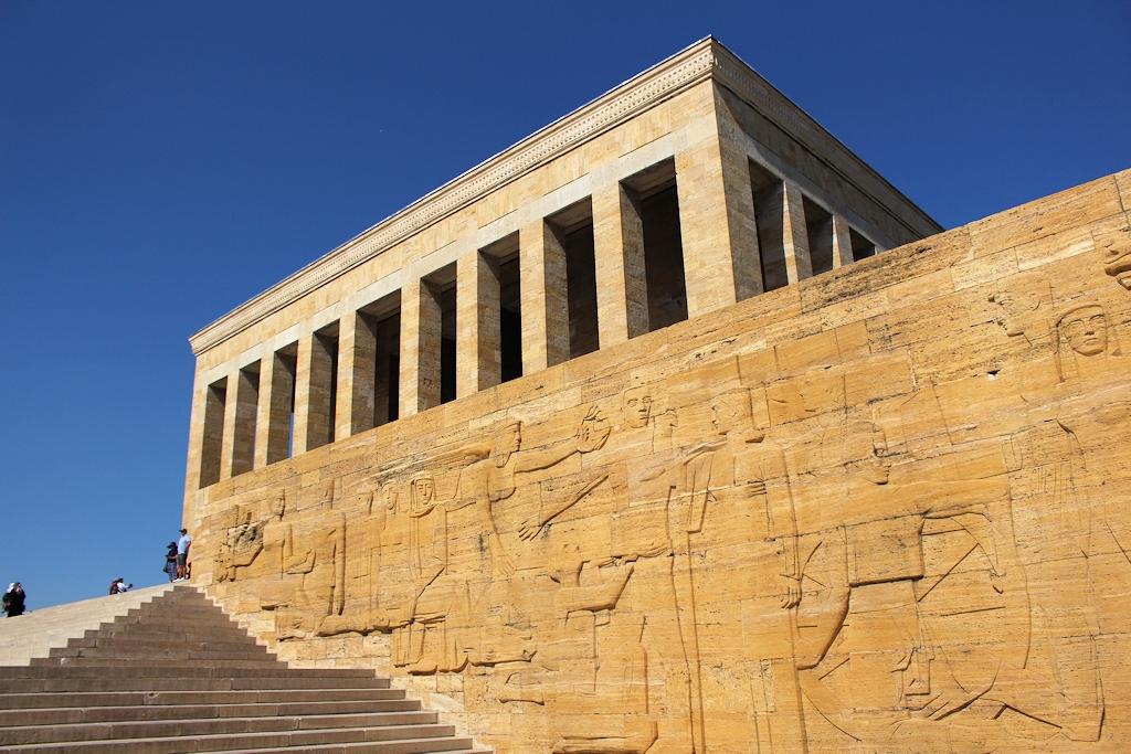 Des Mausoleum Anıtkabir in Ankara