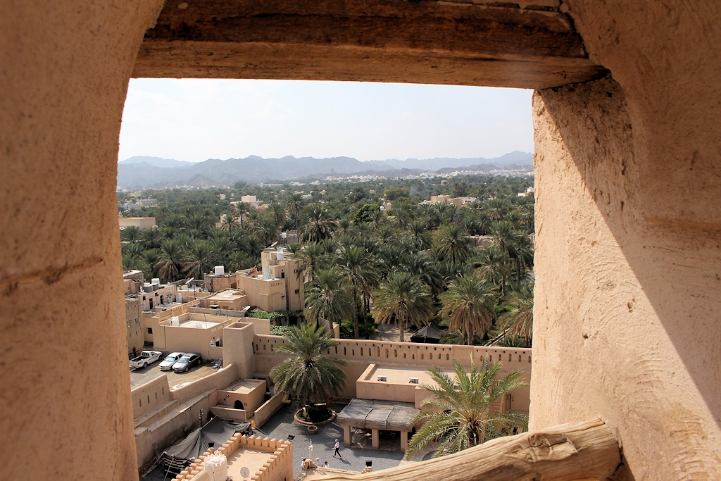 Fort in der Oase Nizwa im Oman