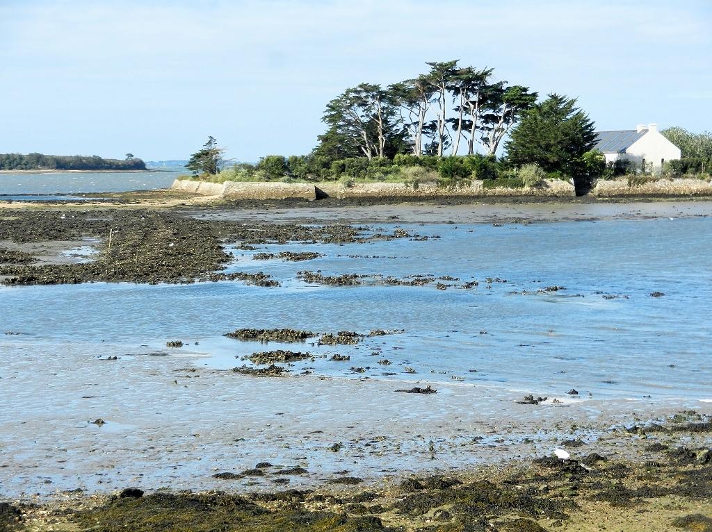 Morbihan - Le Passage mit Blick auf die Ile Quistinic