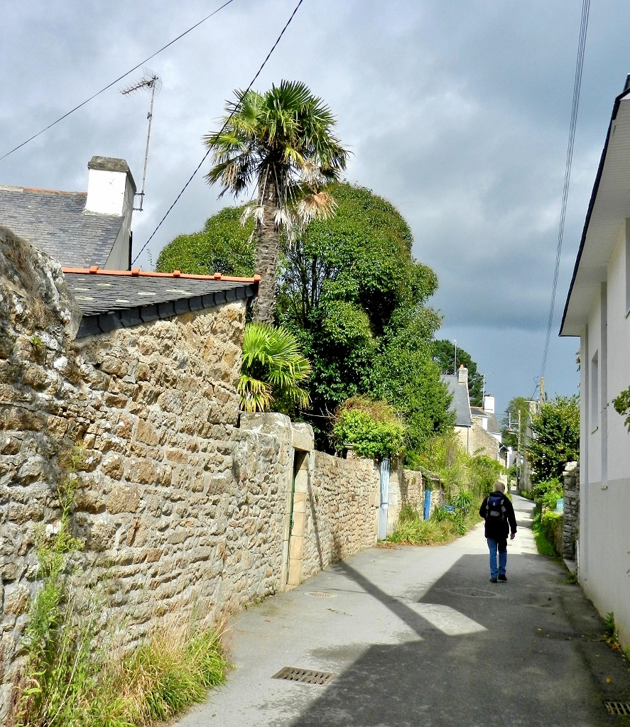 Morbihan - Ile aux Moines, im Ortskern von Kergantelec