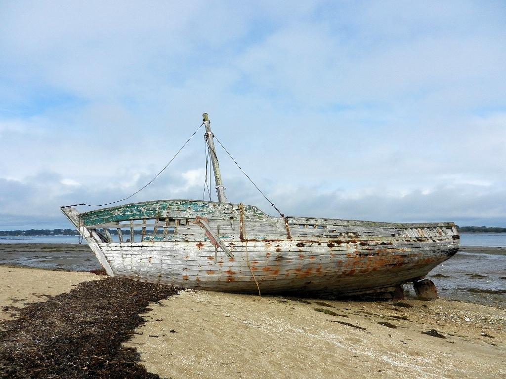 Schiffswrack auf der Ile d'Arz