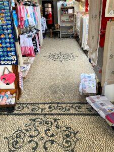Mosaik aus Kieselsteinen in Lindos