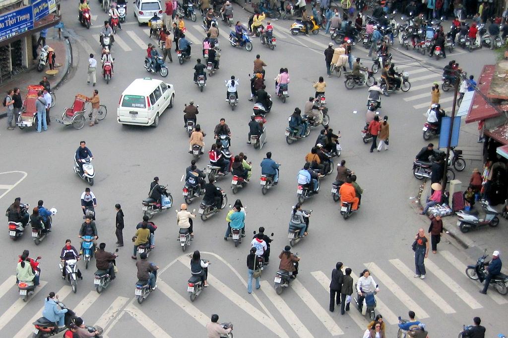 Motorroller in Hanoi