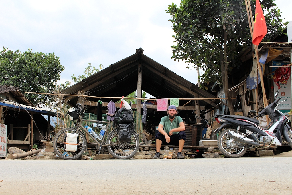 Pause auf dem Ha Giang Loop